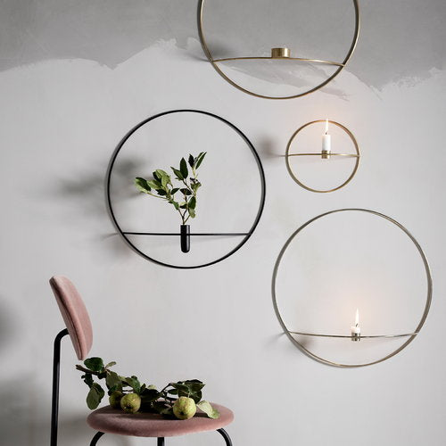 Small Brass Circle with Candleholder