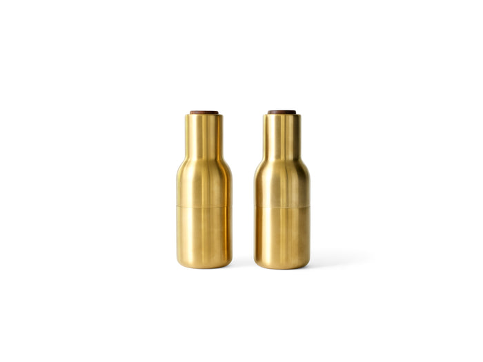 Bottle Grinders  Brushed Brass