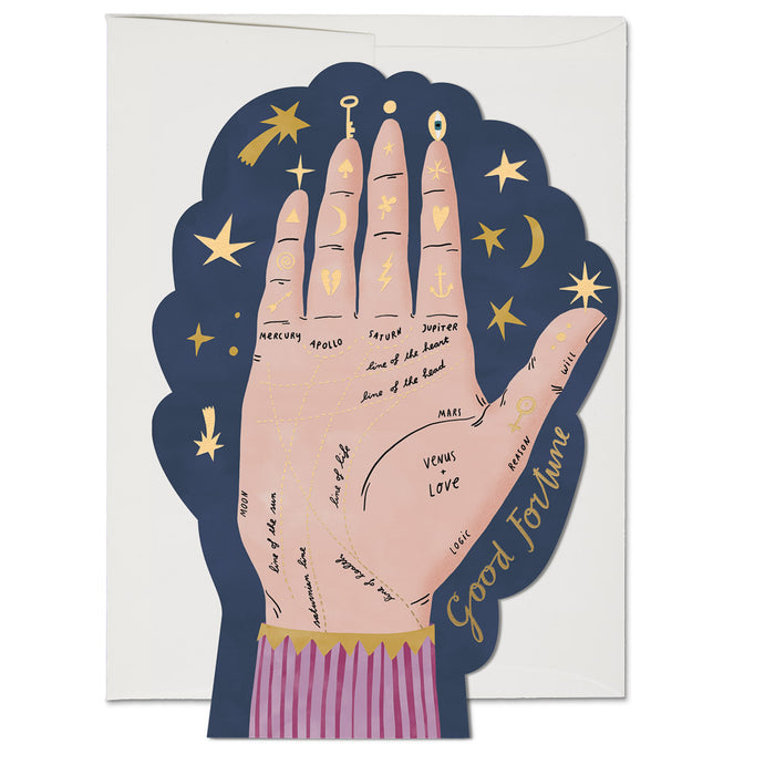 Palm Reading FOIL card
