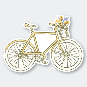 Flowers Bike Sticker