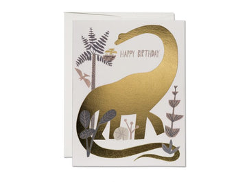 Dinosaur Birthday FOIL Card