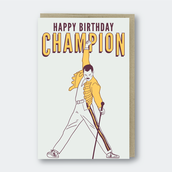 Happy Birthday Champion Greeting Card