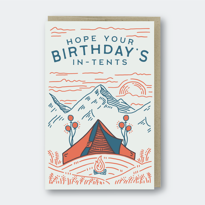 In-Tents Birthday Greeting Card