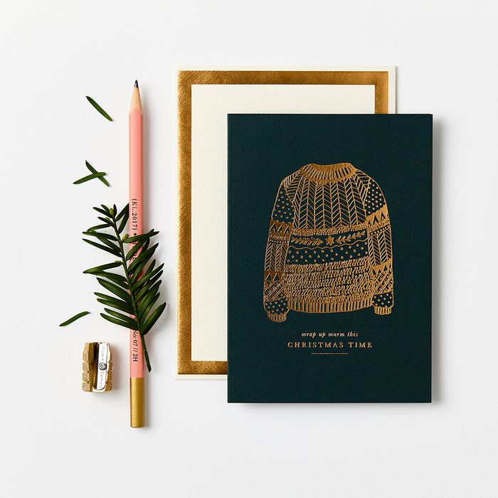 Gold Christmas Sweater [Box Set of 8]