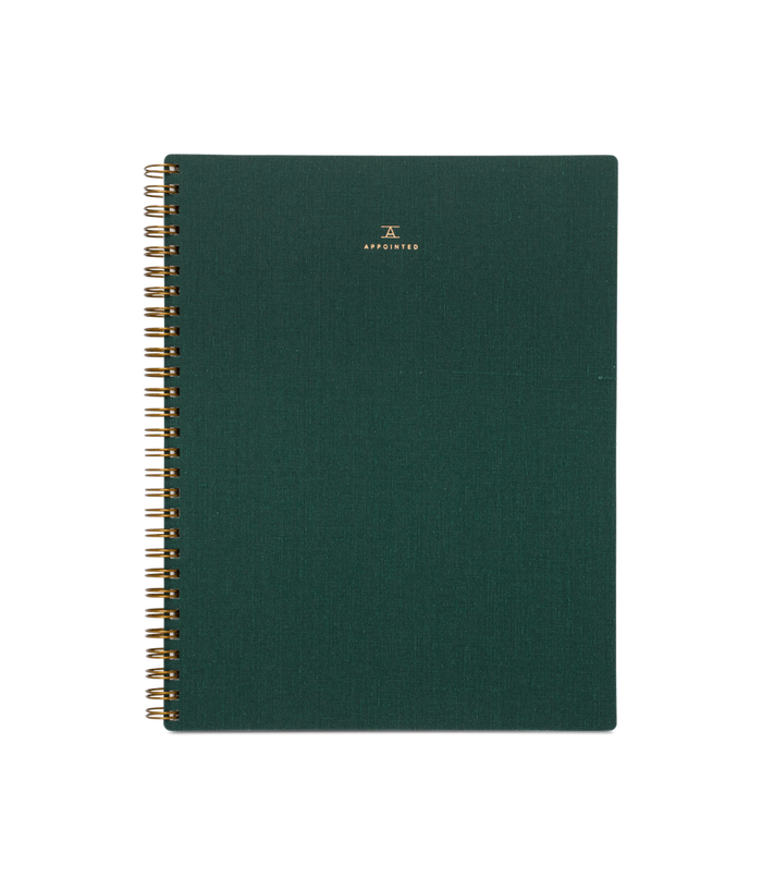 Notebook, Hunter Green