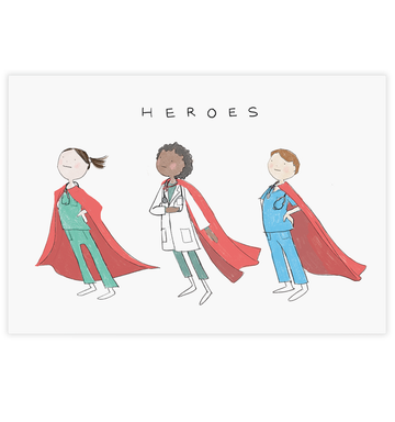 Healthcare Heros Postcard
