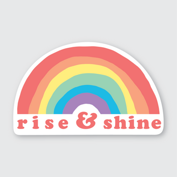 Rise and Shine Rainbow Sticker