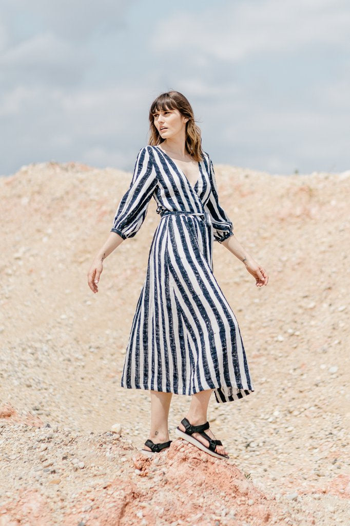 Louisa Dress - Breton Stripe