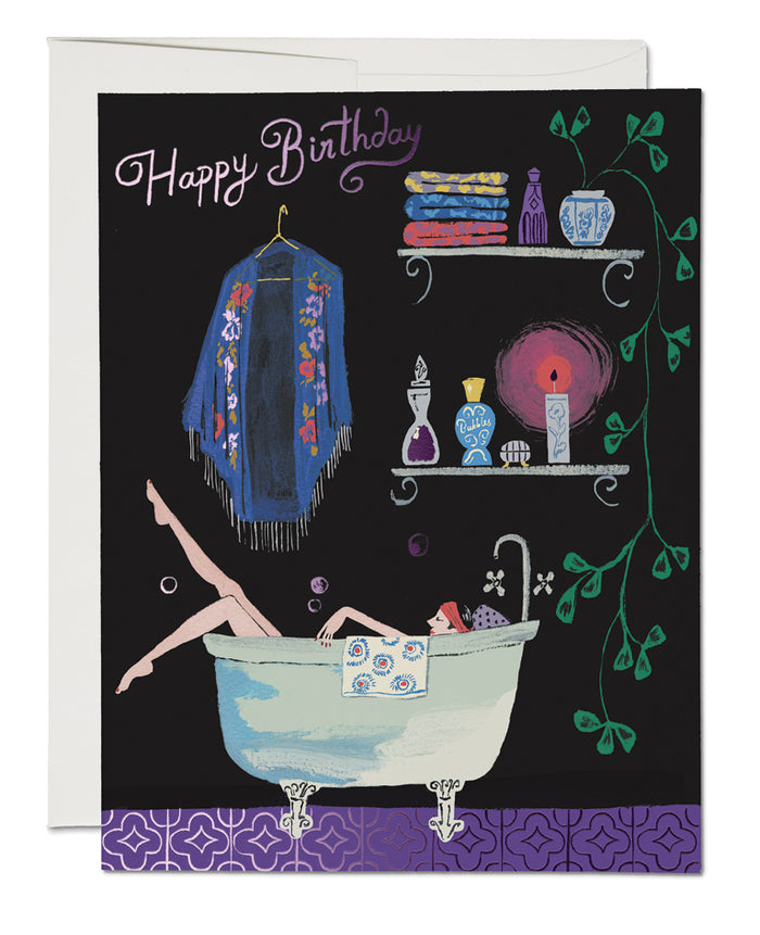 Bathtub Bubbles FOIL Birthday