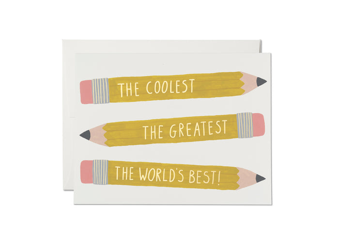 Pencils Friendship card