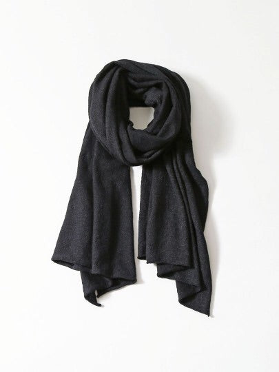 High Twist Cotton Stole - Black