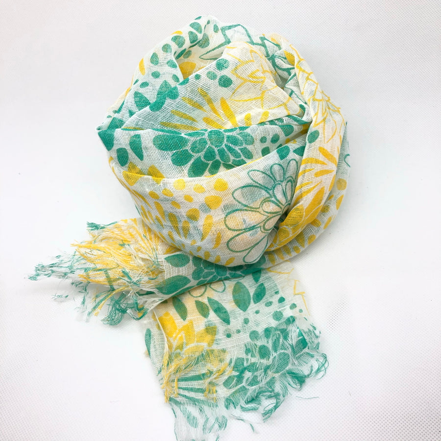 Summer Scarf - Lemon Lime