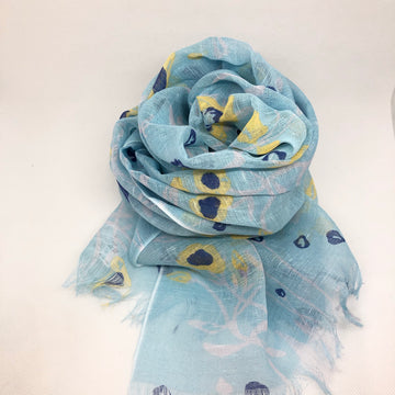 Summer Scarf - Blue Floral