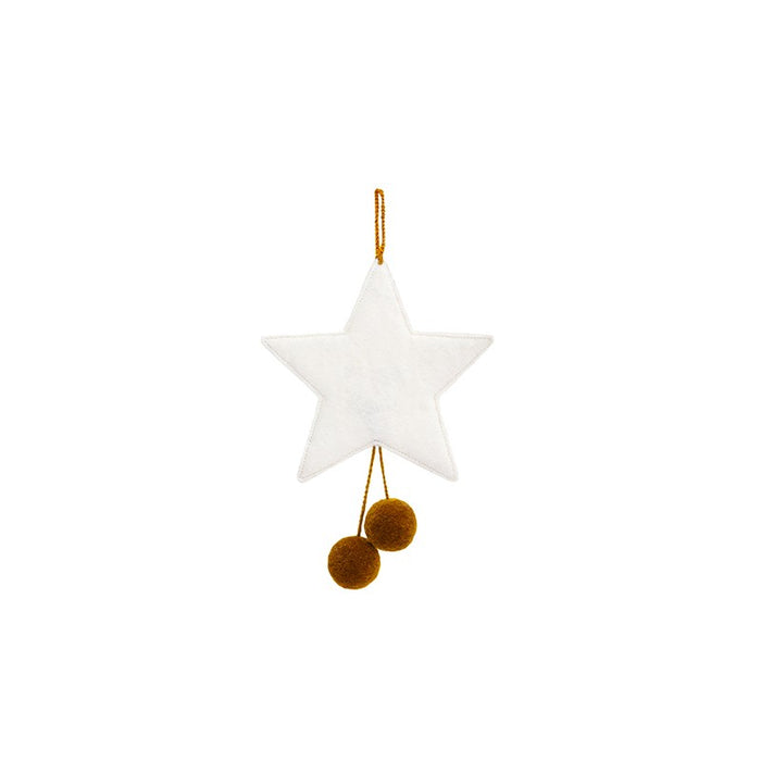 Star Ornament : NATURAL