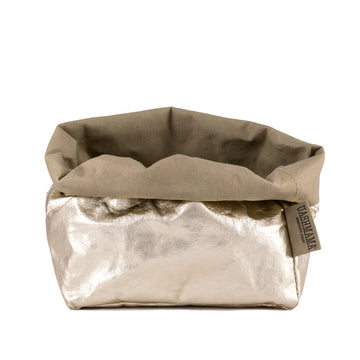 Paper Bag : Metallic : Platinum