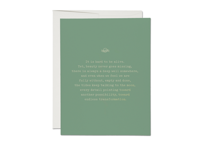 Endless Transformation Foil Sympathy Card