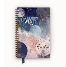 Load image into Gallery viewer, RESERVED for Tamela: 2020 FlexPad Personalized Planner Navy and Blush Celestial