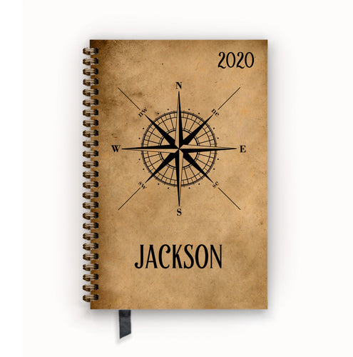 2020 FlexPad Personalized Planner Parchment Compass Rose