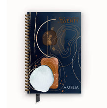 Load image into Gallery viewer, 2020 FlexPad Personalized Planner Navy and Saddle Deconstructed Geode