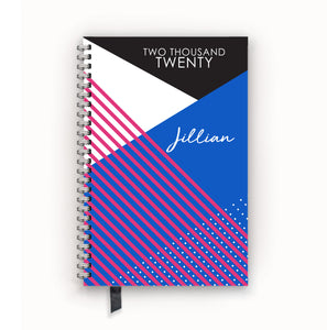 2020 FlexPad Personalized Planner Modern Colorblock