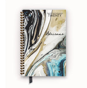 2020 FlexPad Personalized Planner Ocean Marble