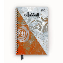 Load image into Gallery viewer, 2020 FlexPad Personalized Planner Tangerine and Gray Split Floral