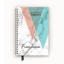 Load image into Gallery viewer, 2020 FlexPad Personalized Planner Layered Triangles on Marble