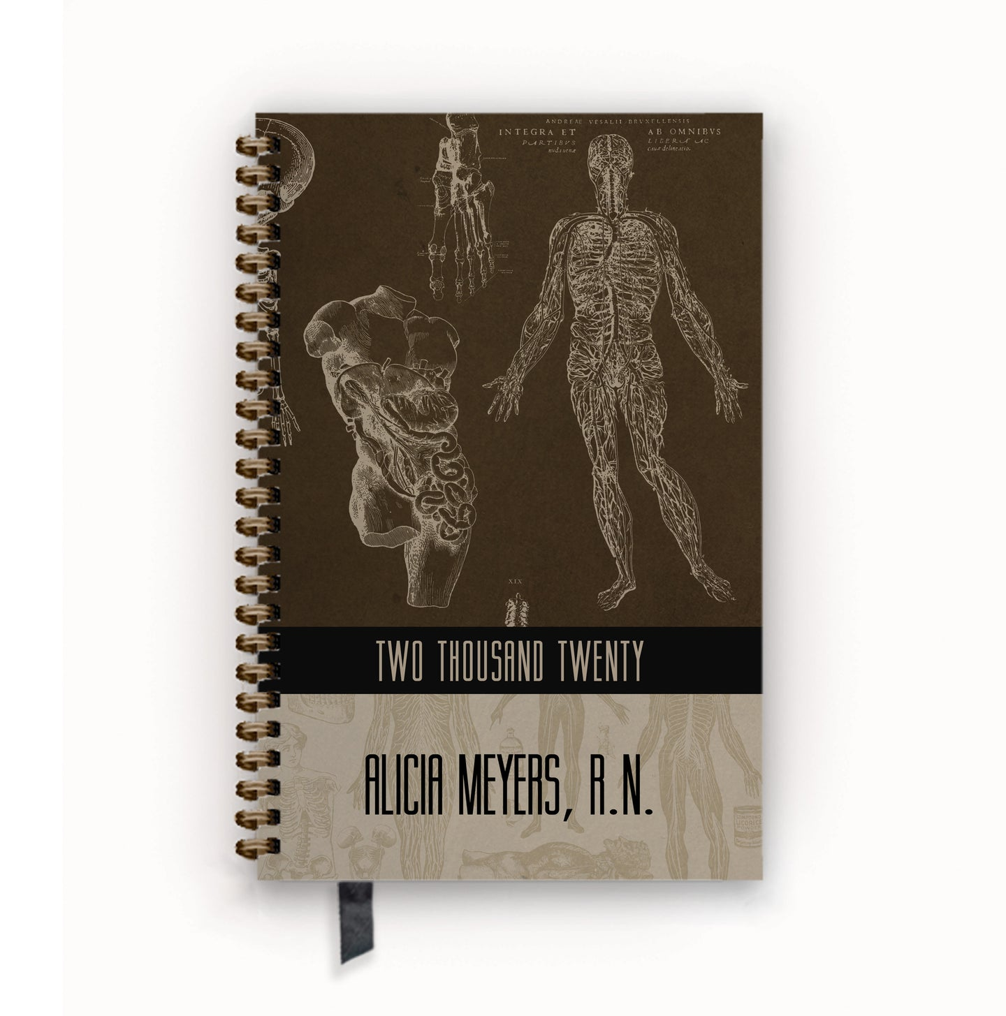 2020 FlexPad Personalized Planner Vintage Anatomy
