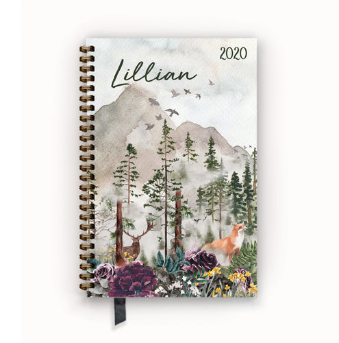 2020 FlexPad Personalized Planner Woodland Creatures