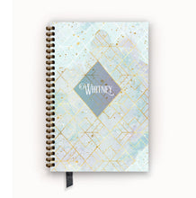 Load image into Gallery viewer, Undated Academic Personalized Planner Arctic Aqua Geometric Nebula