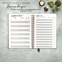 Load image into Gallery viewer, 2020 FlexPad Personalized Planner Navy Modern Marble Monogram