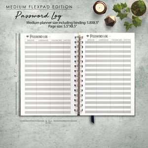 RESERVED for Tamela: 2020 FlexPad Personalized Planner Navy and Blush Celestial