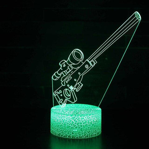 Lampe Fortnite<br> De chevet Sniper Lampe 3D Fortnite Le Gaming