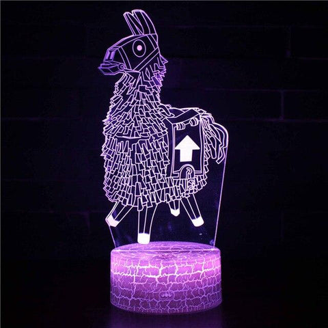 Lampe Fortnite<br> Lama Lampe 3D Fortnite Le Gaming