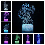Lampe Fortnite<br> LED Lampe 3D Fortnite Le Gaming