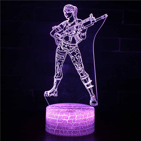 Lampe Fortnite<br> Skin Assault Trooper Lampe 3D Fortnite Le Gaming