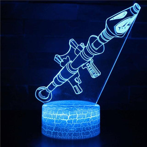Lampe Fortnite<br>Fluo Lampe 3D Fortnite Le Gaming