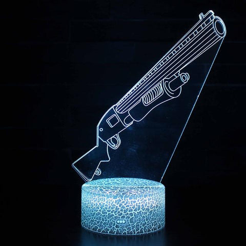 Lampe Fortnite<br>Veilleuse Fusil à pompe Lampe 3D Fortnite Le Gaming