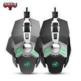 Wired Gaming Mouse 6400DPI 7Key Macro Definition Programmable Wired Mouse Gamer Mice Breathing light for Computer Laptop PC PUBG Le Gaming