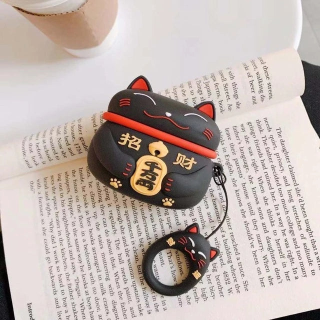 "Best Kawaii - ""Lucky Cat"" Airpods & Airpods Pro Cases"