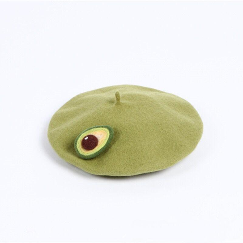 Avocado-Beret-Hats