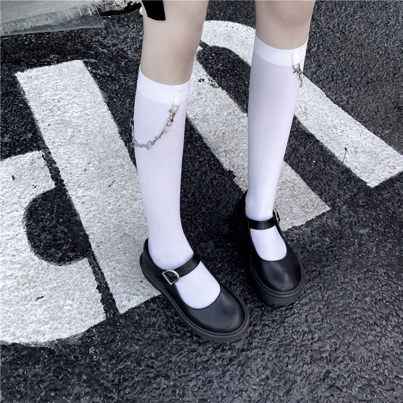 Chain Knee High Socks