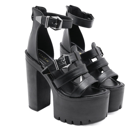 Hollow out and High-heel  Sandals Harper