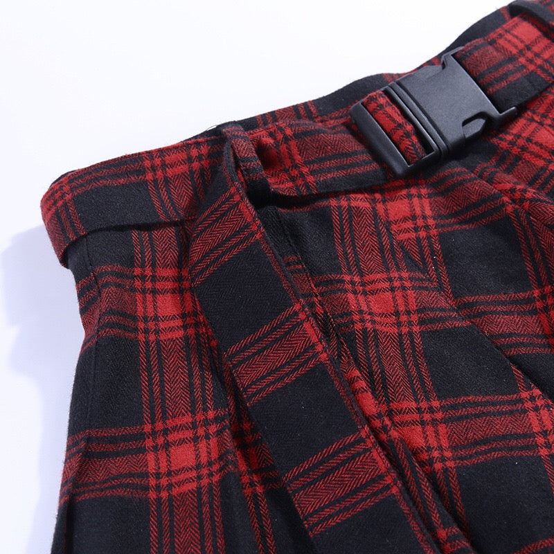 BestKawaii-Irregular-Plaid-Mini-Skirt-With-Small-Pocket