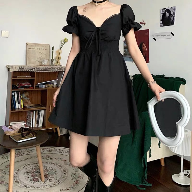 BestKawaii-Puff-Sleeve-Vintage- Dress