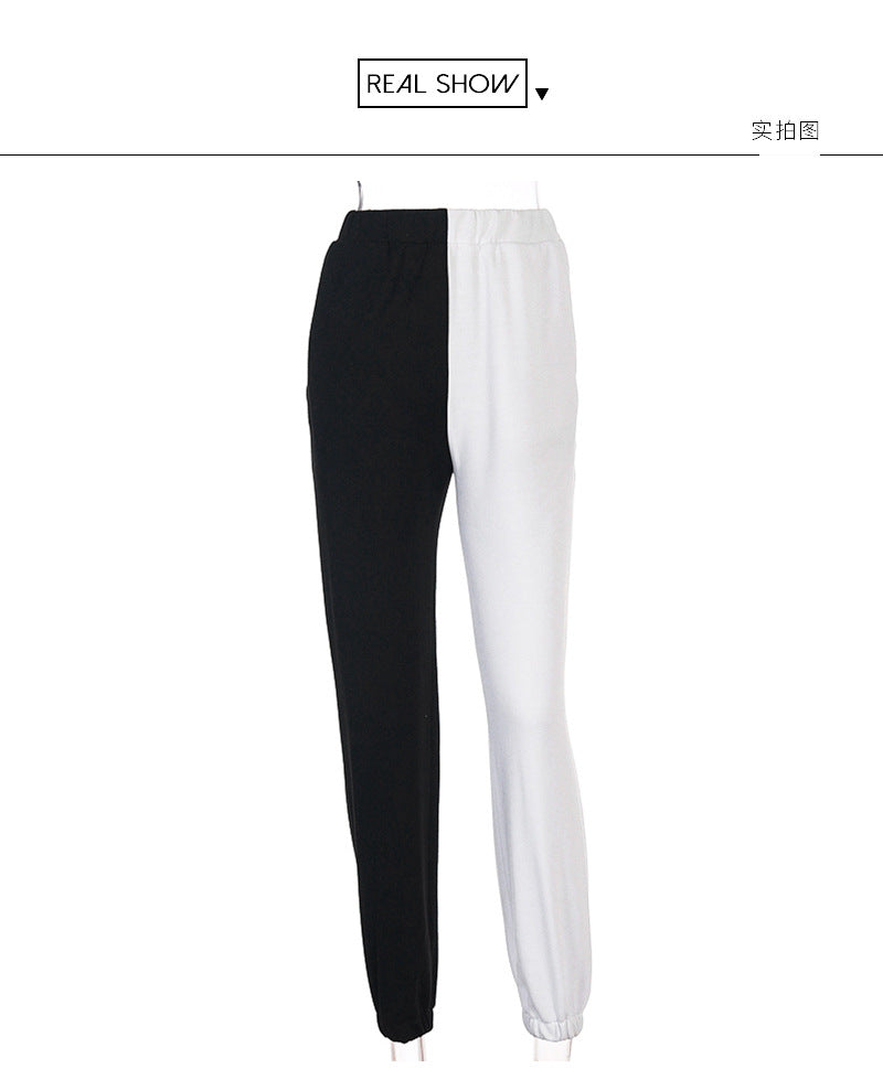Bestkawaii-Black-and-White-Contrast-High-Waist-Casual-Pants