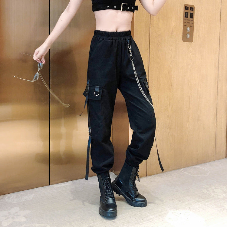 Bestkawaii-Chained-Cargo-Pants-With-Pockets