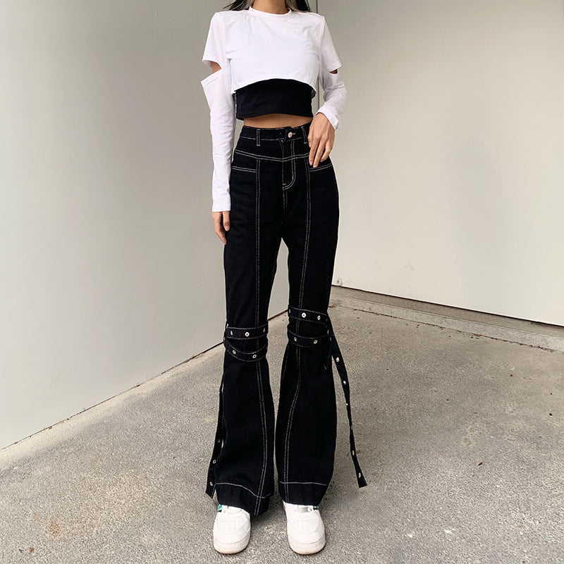 Bestkawaii-High-Waist-Flared-Jeans