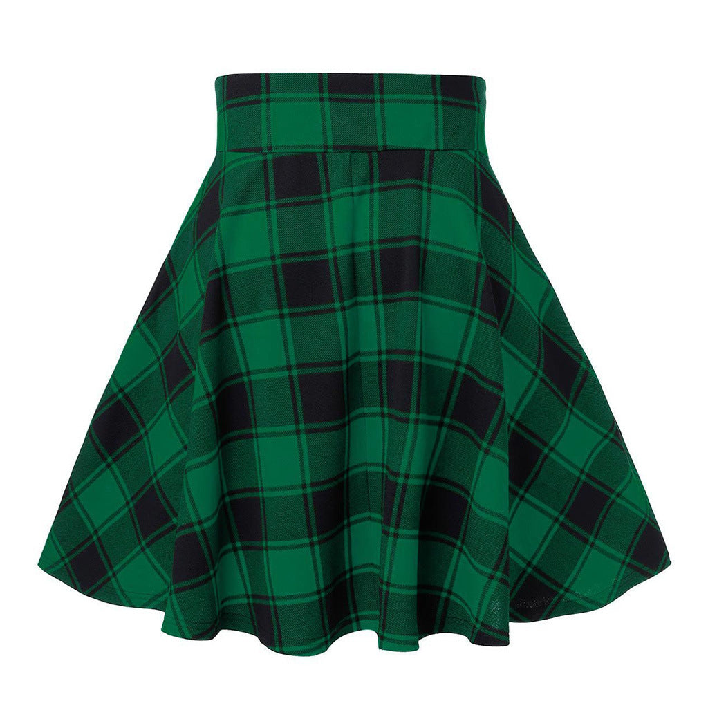 Bestkawaii-High-Waist-Plaid-Mini-Skirt