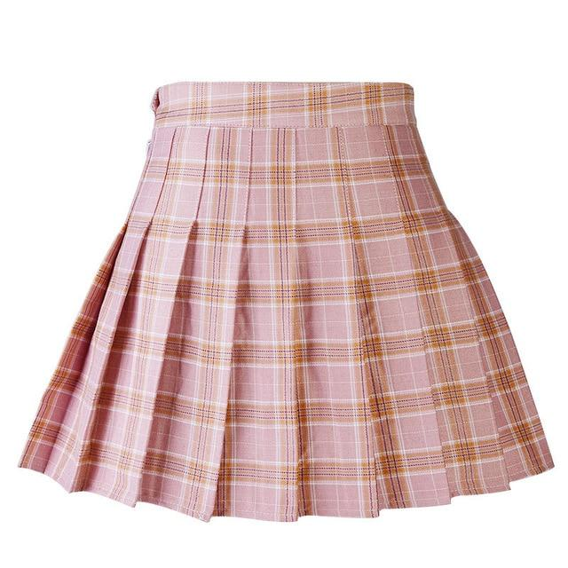 Bestkawaii-High-Waist-Pleated-Plaid-Skirt